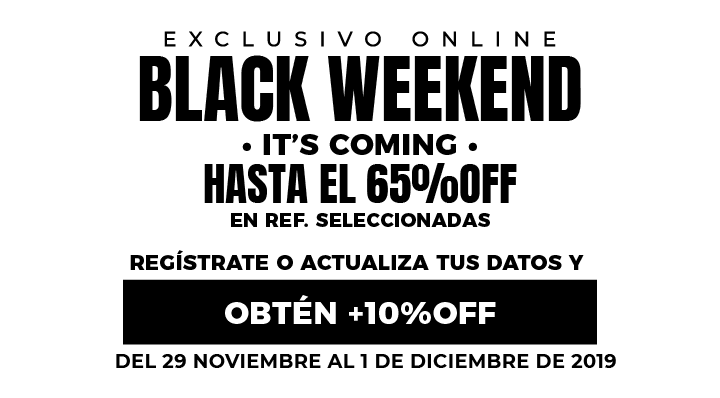 Blackweekend Hasta 65% Dcto